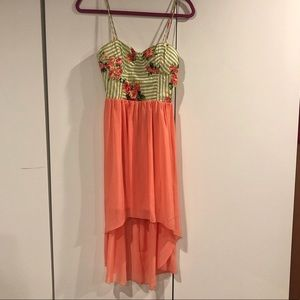 Colorful summer High-Low Dress